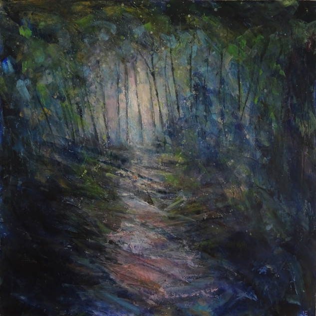 Evening light, Steps Wood, 2019