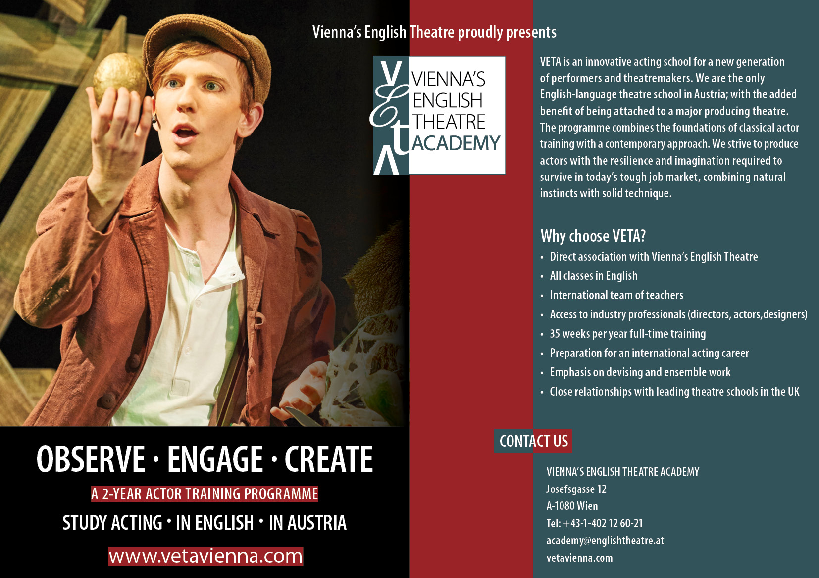 Veta Viennas English Theatre Academy Vet Youth Ensemble