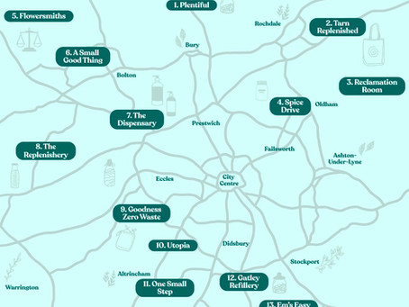 Plastic Free Greater Manchester Map