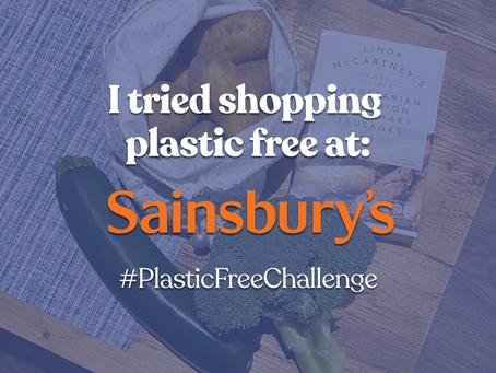 I tried shopping plastic free at Sainsbury's