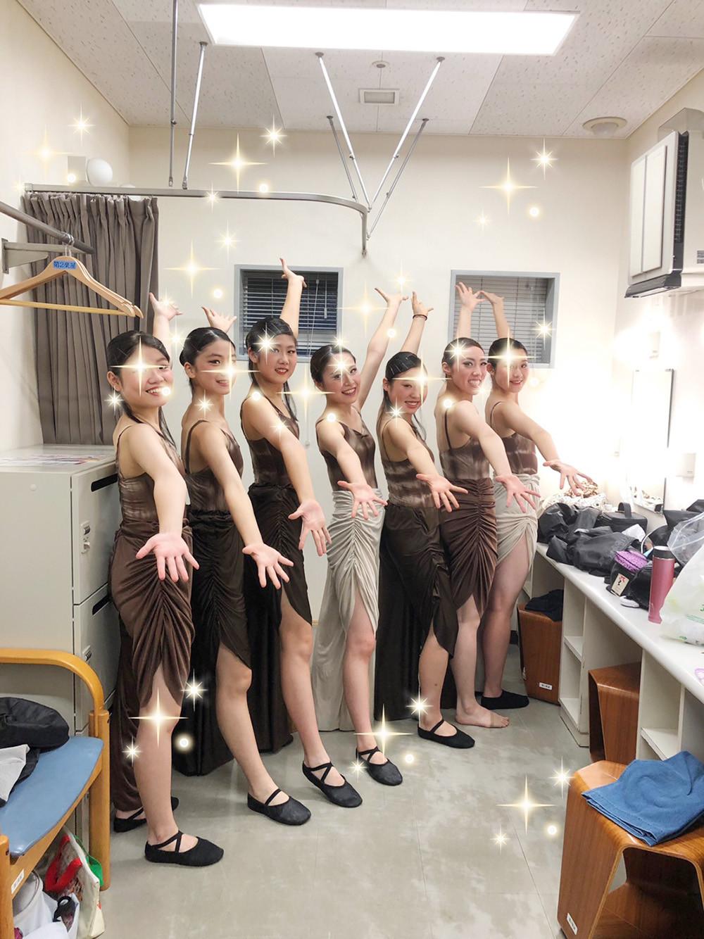 創作舞踊公演楽屋