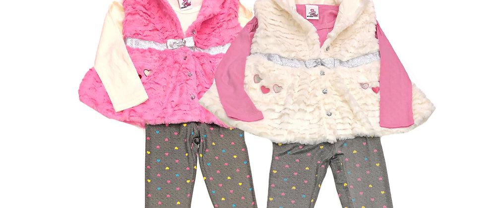 Real Love - 3 Piece Faux Fur Vest Set