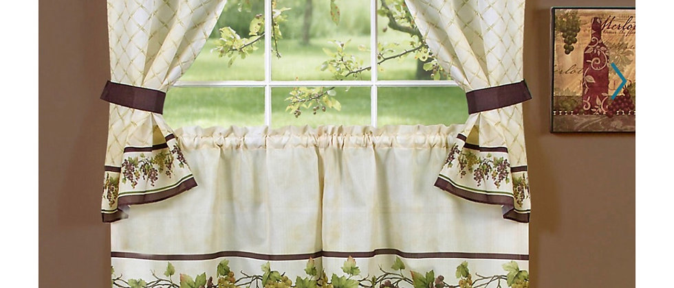 Tuscany - 3-pc  Kitchen Curtain Set