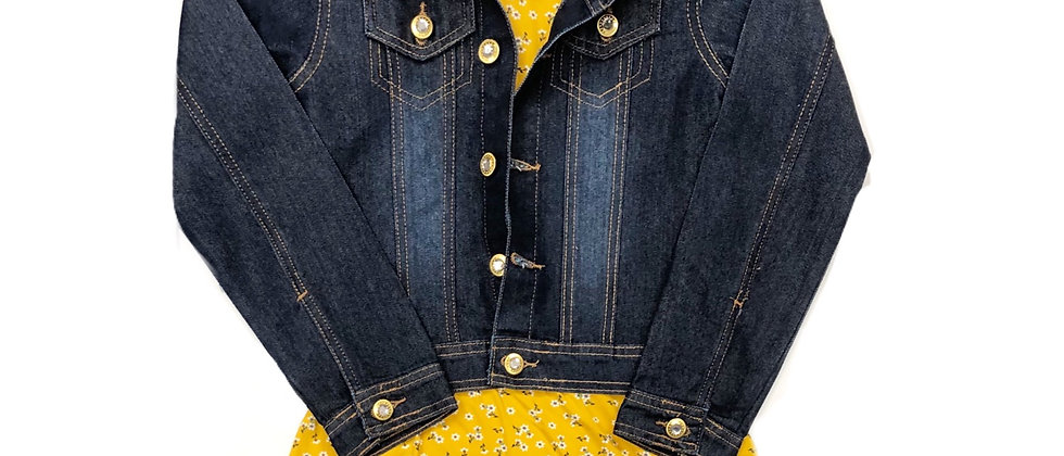 One Step Up- Denim Jacket with  Dress