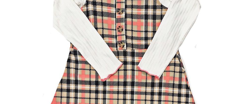 Colette Lilly- 2 piece Plaid Dress Set