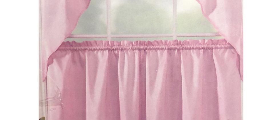 """Floral - 3-pc 36""""  Kitchen Curtain Set"""
