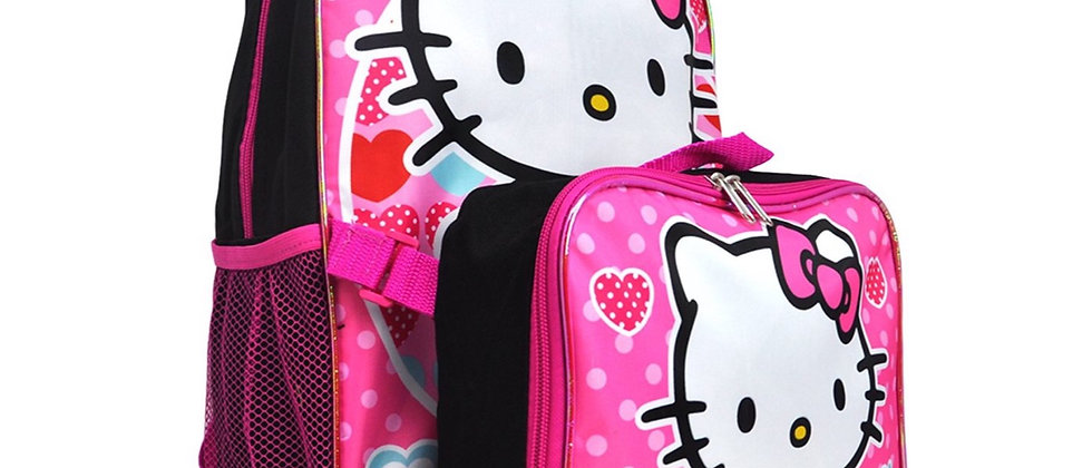 Hello Kitty Backpack w/ Lunch Bag