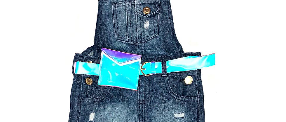 Chilipop Denim  Shirtalls With Belt