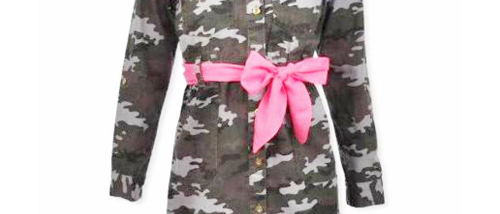 Chilipop Camo Dress with Belt