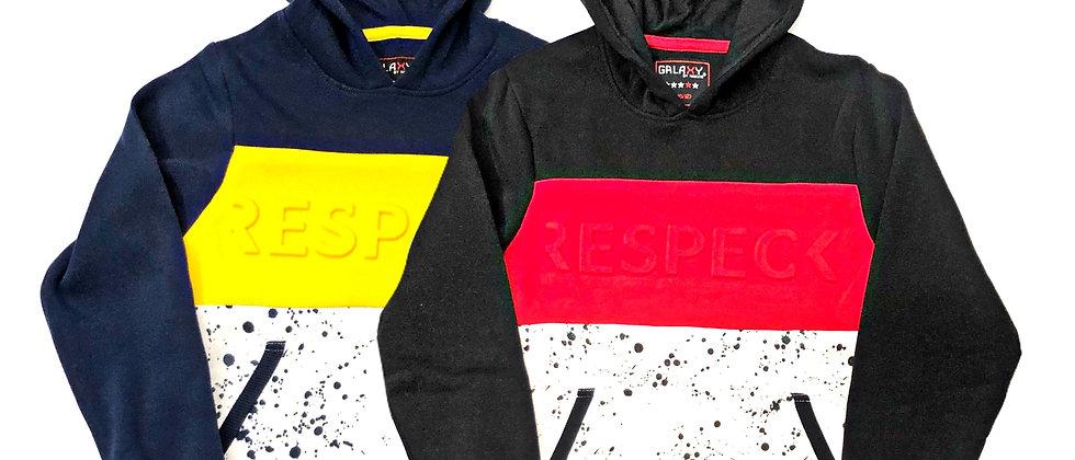 Galaxy Fleece Hoodie W/ Embossed Print