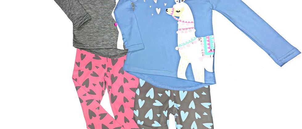 "deLIA""S Girl - Llama Love Pajama Set"
