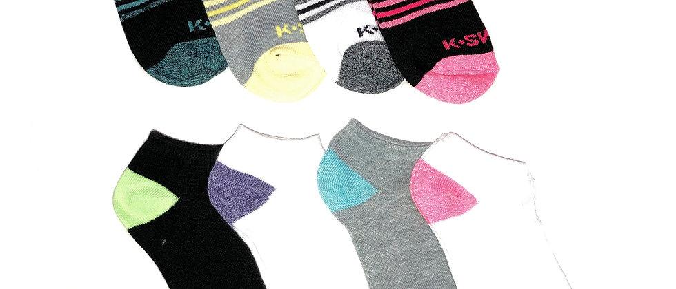 K-Swiss 8pk  Low Cut Socks
