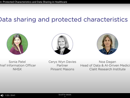 Event Catch-up! Protected Characteristics and Data Sharing in Healthcare
