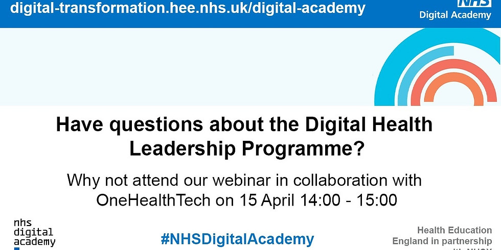 Collaboration Event with the NHS Digital Academy: Encouraging More Womxn to Apply to the Programme