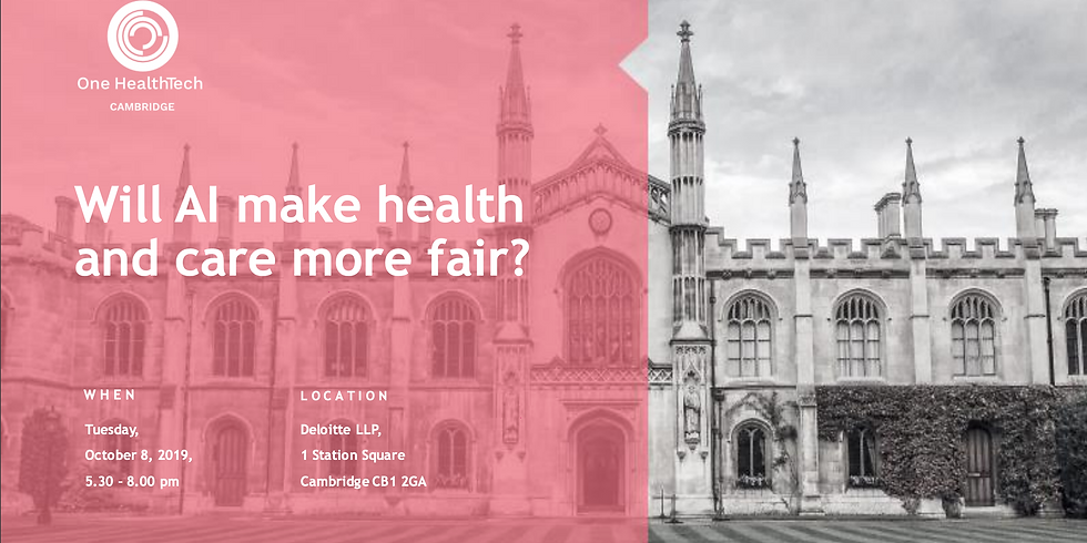 Will AI Make Health and Care More Fair? (Cambridge)