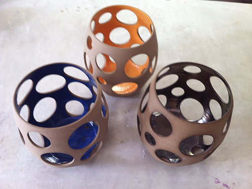 Vaso Vazado Cerâmica