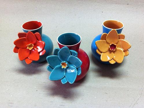 Vaso Flor colorido