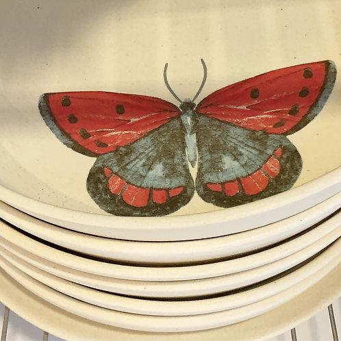 Prato borboleta com borda