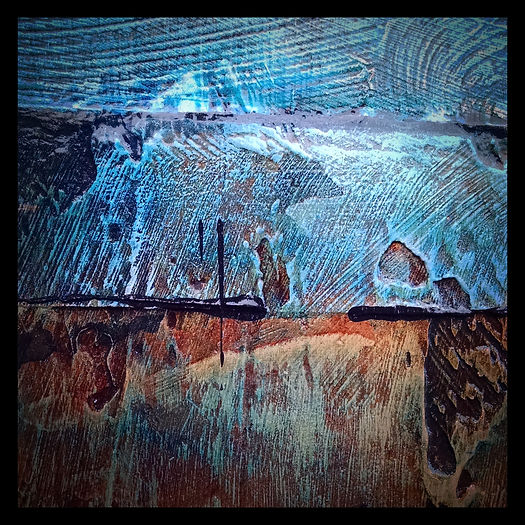 painting details by brian giberson of indigo lights
