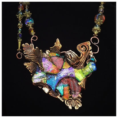 art jewelry necklace by sheri cohen of indigo lights