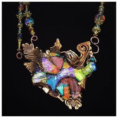 art jewelry necklace by sheri cohen of indigo lights