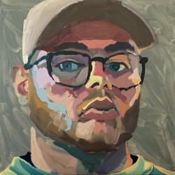 Self-Portrait in Beige Hat