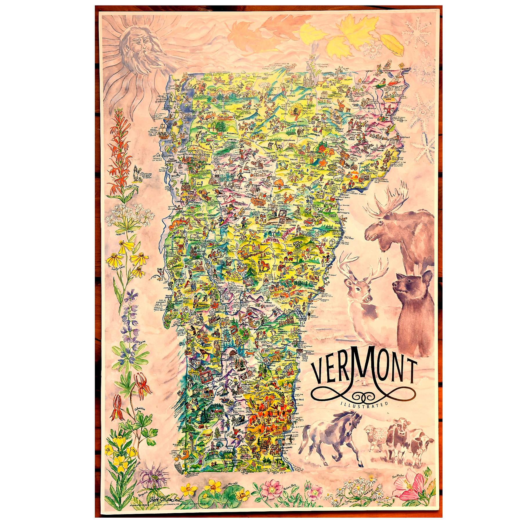 Vermont Attractions Map