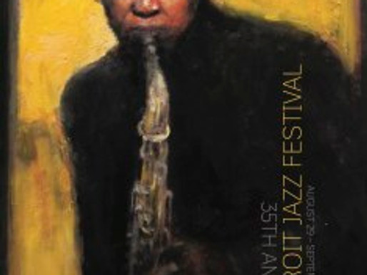 Painting a jazz poster