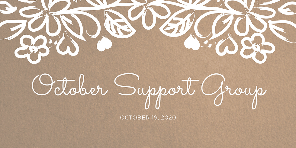 October Support Group Meeting