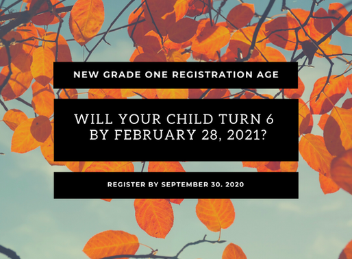 Grade One Age Restriction Changed