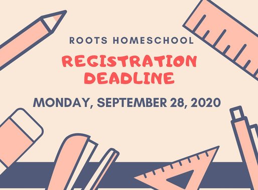 Registration Deadline is Monday, Sept. 28