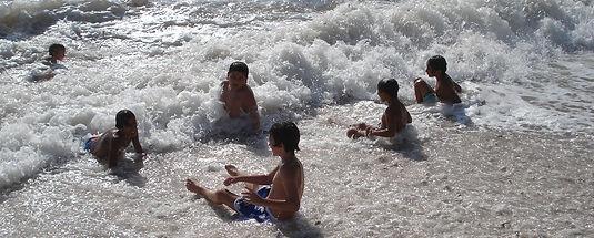 Boys in surf