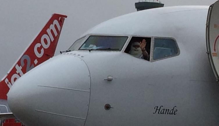 Pilot with Santa beard