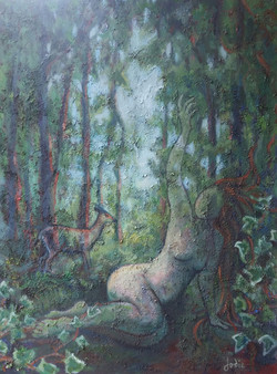 Woman In the Woods.