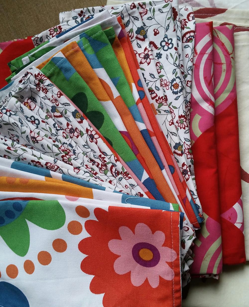 Fabric reusable napkins and table cloths