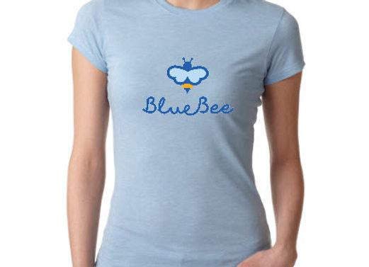 Blue Bee logo A tee