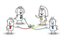 nous nous intéressons aux personnes et notamment auxcomportements des managers et des dirigeants, au niveau de leur leadership. Nous nous intéressons aussiaux équipes afin de fluidifier les interactions et réduire les jugements, accroitre la motivation.