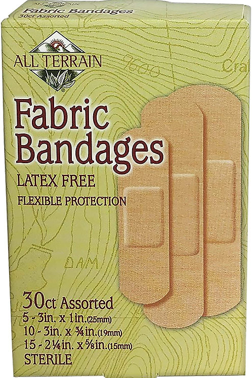 All Terrain Fabric Bandages, Latex-Free, Flexible Protection, 30 Count
