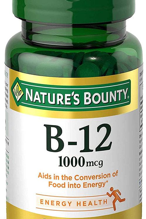 Nature's Bounty Vitamin B-12 Tablets, 1000 mcg, 100 Count