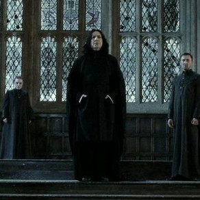 How did Snape fly?