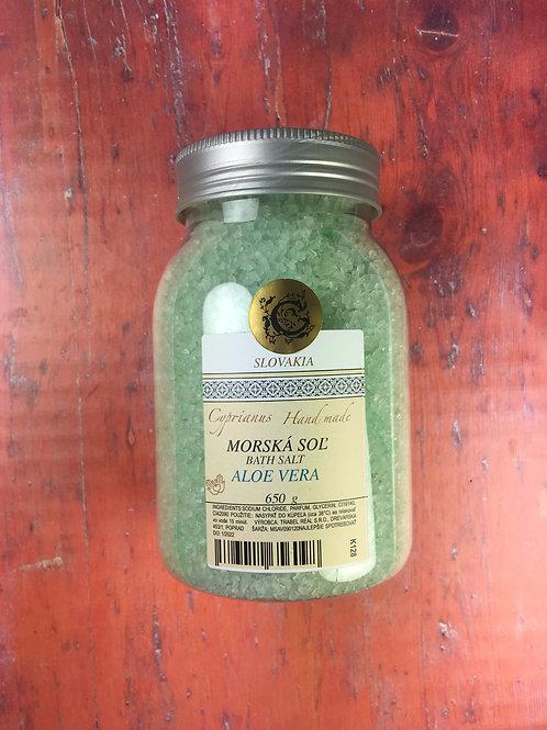 Morská soľ aloe vera 650g