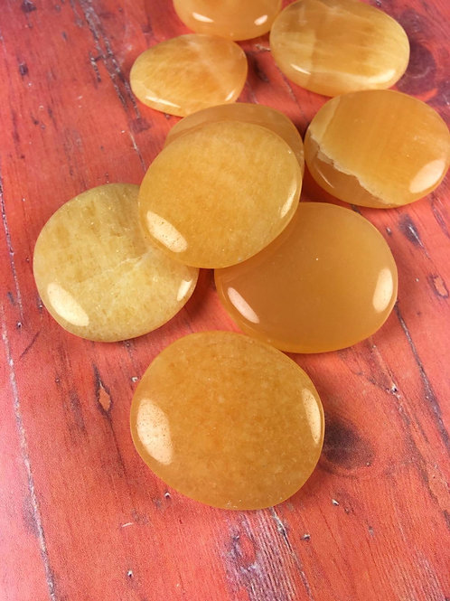 Kalcit oranžový-placička 1KS
