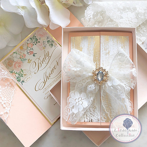Lace vintage invitation