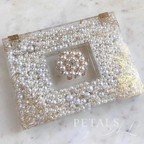 Gold Foil Acrylic Pearl Box