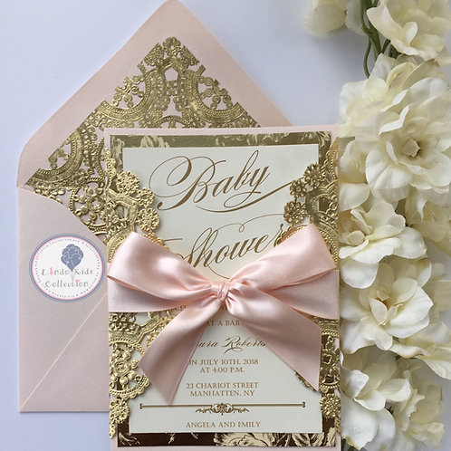 Baby Pink Baby Shower Invitation