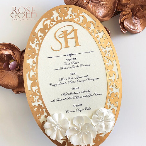 Rose Gold with Paper Flower
