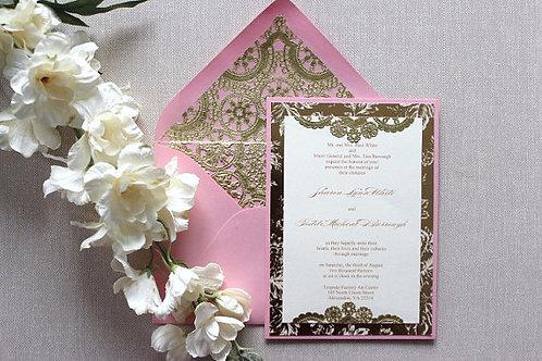 Original Blossom and Gold Invitation
