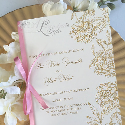 Blossom and Cream Ceremony Program