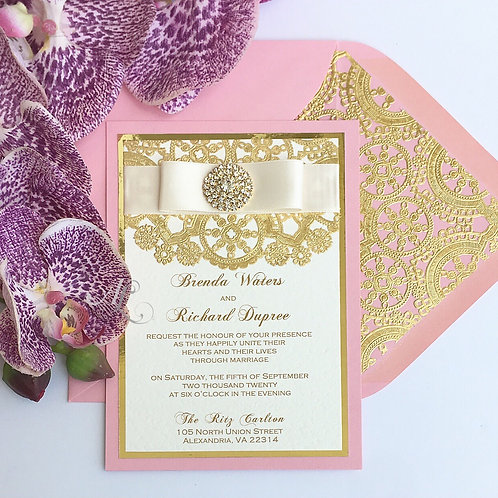 Blossom and Gold Invitation