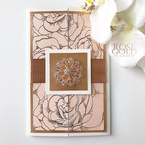 Rose Gold Floral and Rich Blush